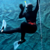 freediver waving